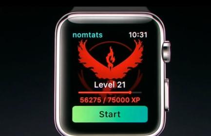 アップルウォッチ×ポケモンGOのメイン画面