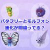 【ポケモンGO】モルフォンとバタフリーの進化は逆だった?コンパンがモルフォンに進化すると重さが何故か軽くなる謎