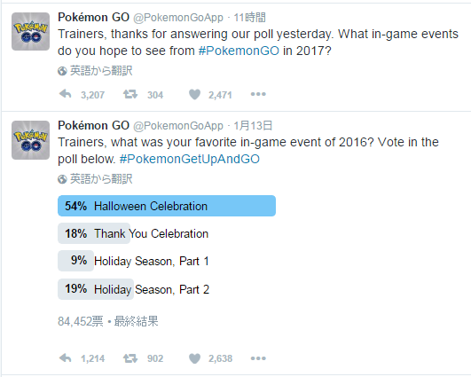 ポケモンGOイベント人気アンケート結果発表