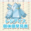 【ポケモンGO】レジアイスの個体値・CP早見表【レイドバトル】