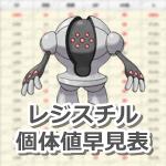 【ポケモンGO】レジスチルの個体値・CP早見表【レイドバトル】