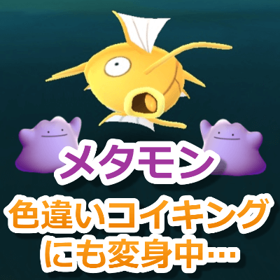 ポケモンGO色違いコイキングメタモン