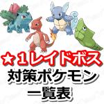 【ポケモンGO】レイドバトル(星レベル1ボス)対策ポケモンをまとめたよ!