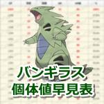 【ポケモンGO】バンギラスの個体値・CP早見表【レイドバトル】