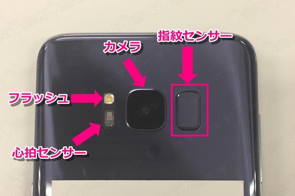 GalaxyS8カメラと指紋センサー