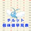 【ポケモンGO】チルット個体値早見表【レイドバトル】