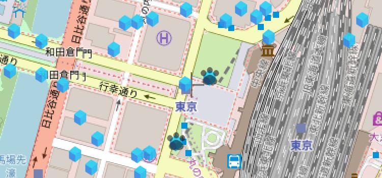 リワードマップに足跡マークを表示