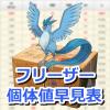 【ポケモンGO】フリーザーの個体値・CP早見表【大発見】