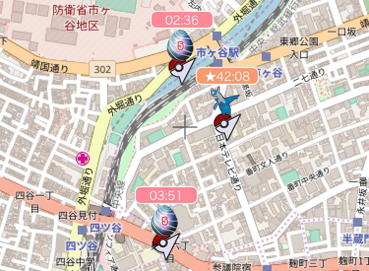 リワードマップのレイド情報について