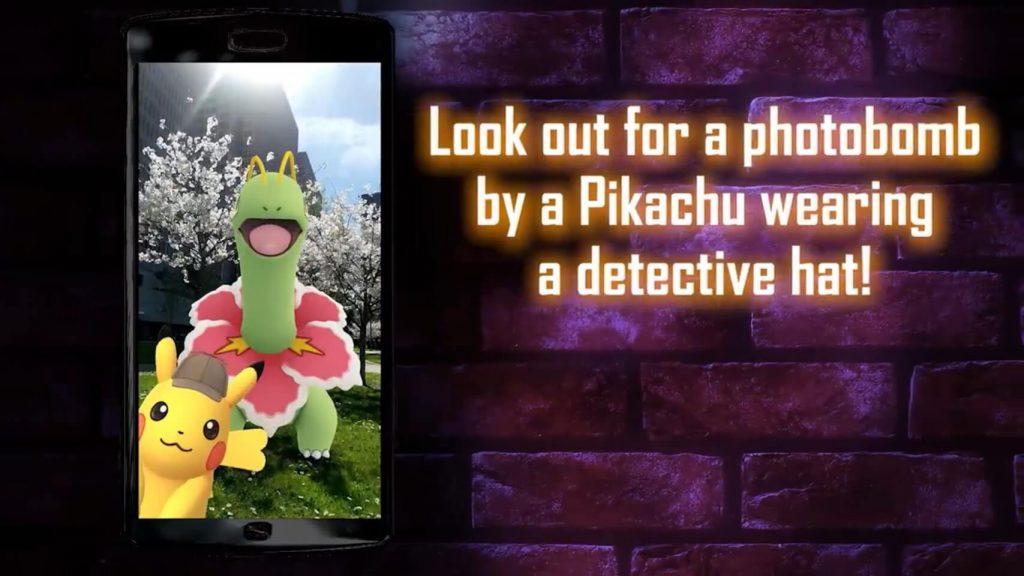 探偵帽ピカチュウ写り込み