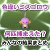 【ポケモンGO】色違いミズゴロウ捕獲数は?みんなの結果まとめ【コミュニティ・デイ】