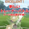 【ポケモンGO】トレーナーバトルが変わった!連打不要のスワイプ発動 チームリーダーバトルパーティ変更