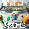 【ポケモンGO】第五世代(イッシュ地方)ポケモンの野生レア度一覧【2019年9月17日実装組】