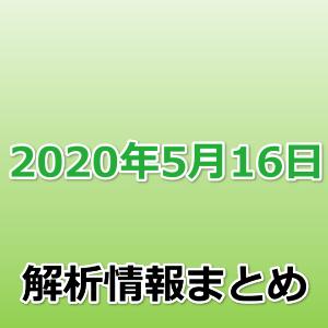 2020年5月16日解析情報